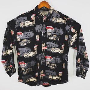 VTG Bit & Bridle Outfitters Western Cowboy Shirt L